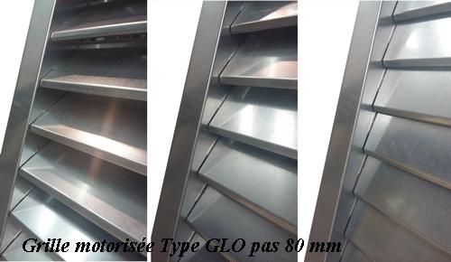 Grille motorisée type GLO pas 80 ou 50 mm