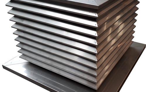 Grille de ventilation triangulaire vib for Edicule toiture terrasse